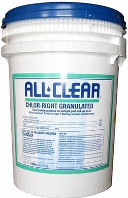 Chlor-Right Gran 100 LB All Clear