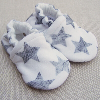 Booties Gray Stars
