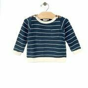 Waffle Stripe Pullover Storm Cloud