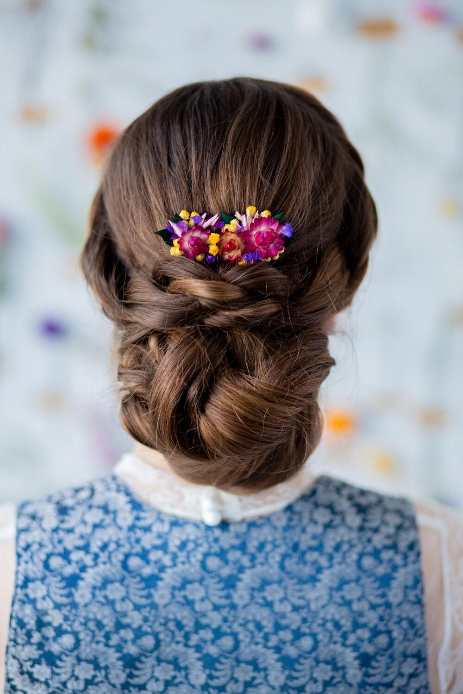 Blumenkamm SWEETGIRL - giuliblum - langhaltende Blumenkränze und Blumenaccessoires