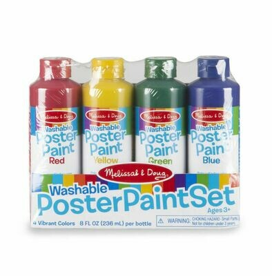 Washable Deluxe Poster Paint Set