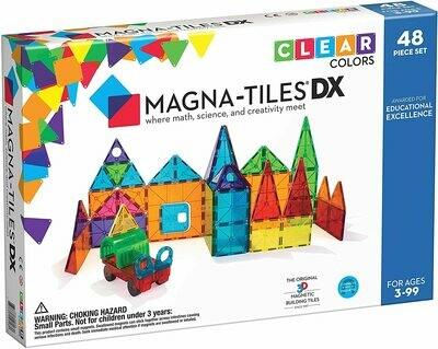 Magna-tiles DX Clear Colors 48 piece
