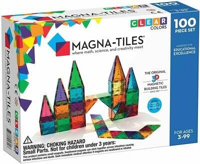 Magna-tiles Clear Colors 100 piece