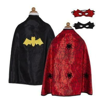 Reversible Spider/Bat Cape (Size 2-3)