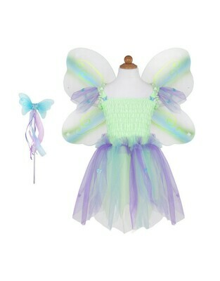 Green Butterfly Dress & wand size 5-6