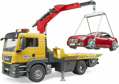 Bruder MAN TGS Tow Truck with Roadster