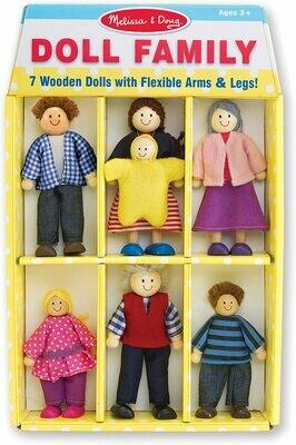 Wooden flexible figure family