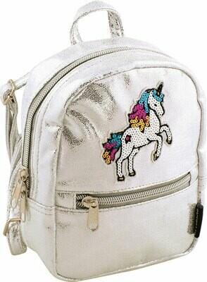 silver micro mini backpack