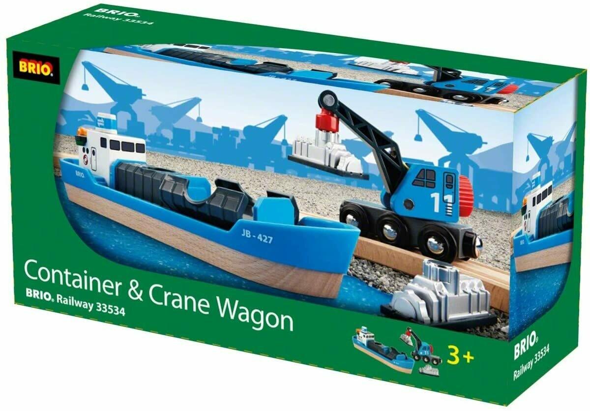 Brio Container and Crane Wagon