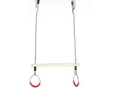 Trapeze Swing Bar with Rings