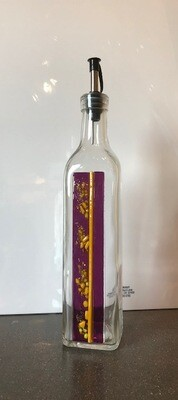 Fused Glass Oil Bottle, 16 oz, Stripe