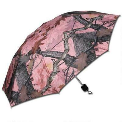 Pink Camo Compact Umbrella