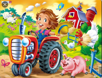 Farm Kid with Tractor