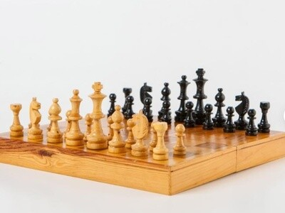 Hand Made Wooden Chess Pieces From Germany (One of A Kind)