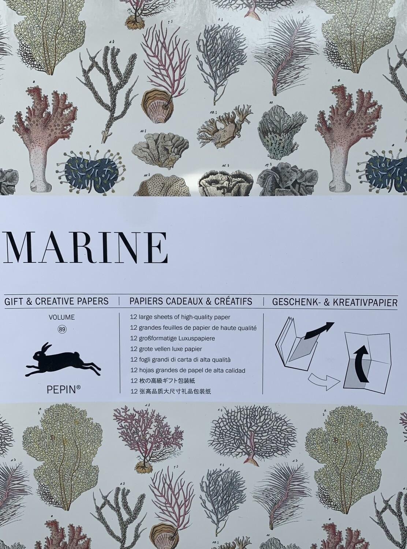 Marine Printed Craft Paper