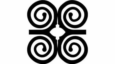 Hand created Adinkra Stamped Holiday Cards