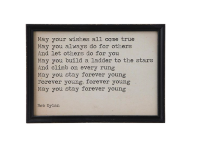 Dylan Wishes Framed Print