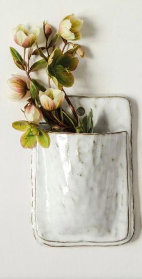 White Wall Planter