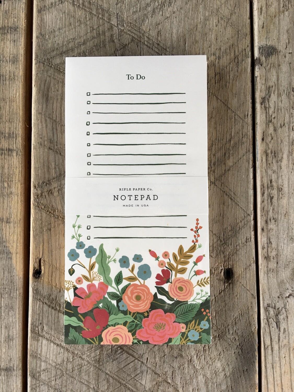 Market Pad Floral Vines
