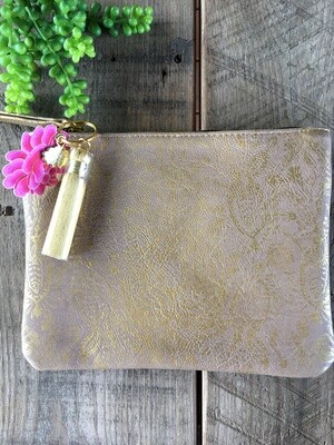 Clutch Paisley Gold