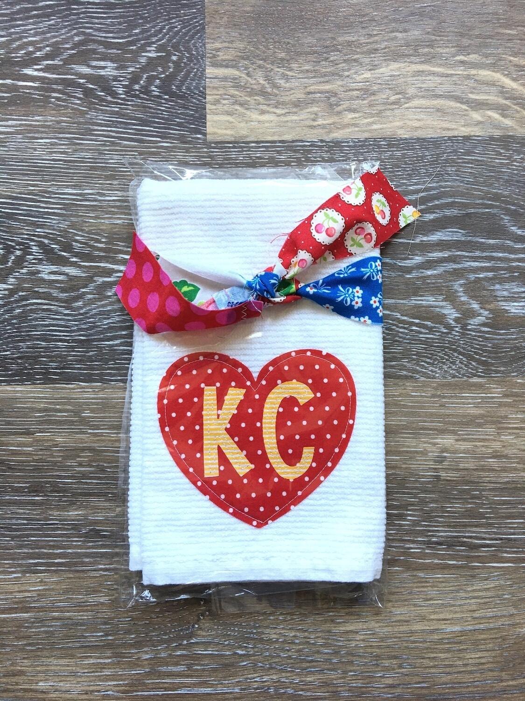 KC Heart Tea Towel