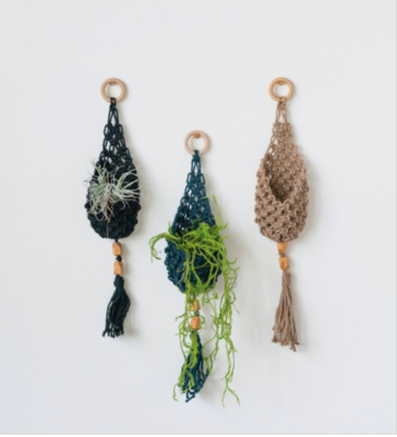 Woven Jute Wall Hanging Pocket