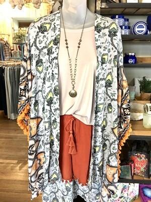 Gray Pattern Kimono