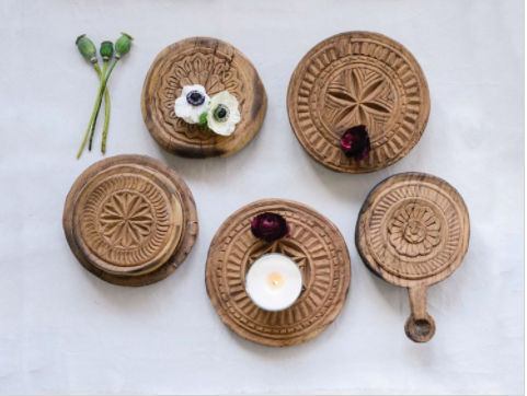 Hand-carved Wooden Bread Board
