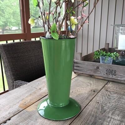 Green Enamel Vase