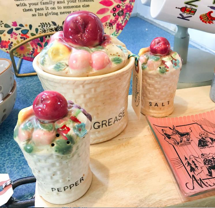 Antique Grease Jar/S&P