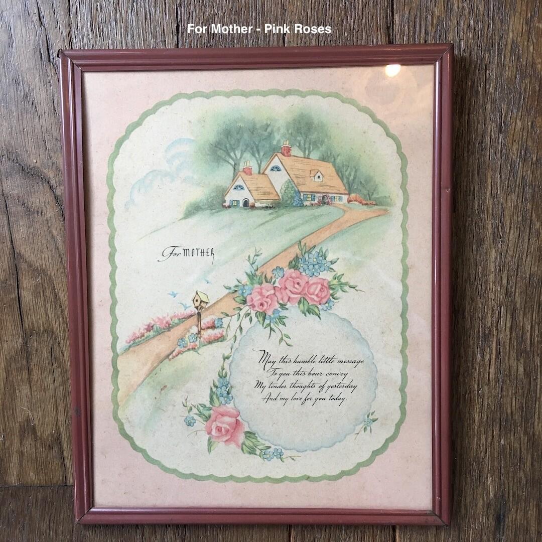 My Mother Vintage Print