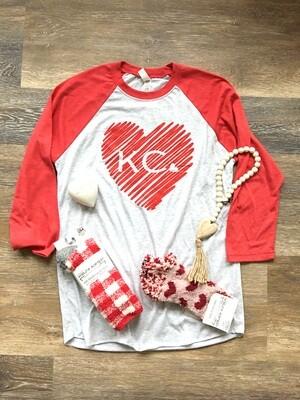 Scribble Heart KC T