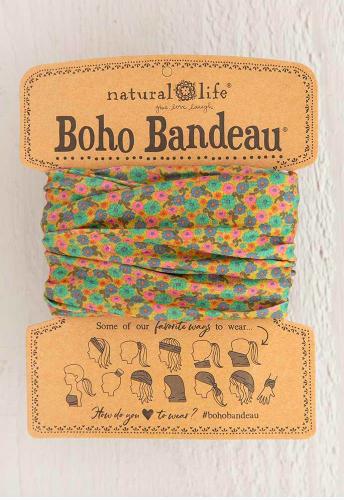 Boho Bandeau Mustard Floral