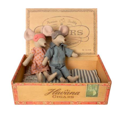 Mom & Dad Mouse in Box