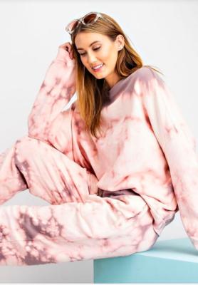 Mauve Tye Dye Pullover