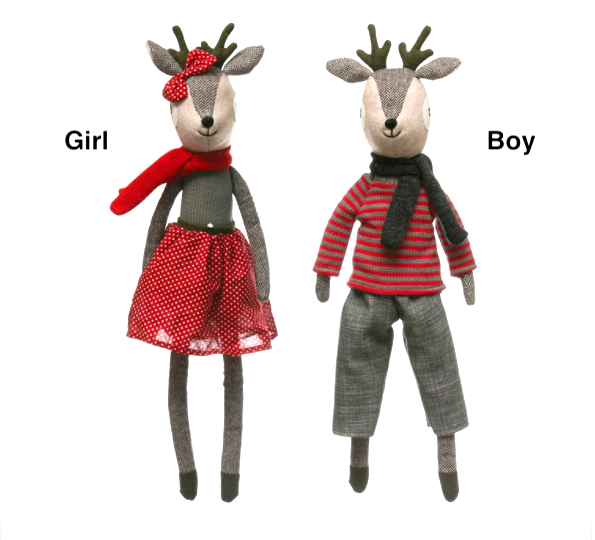 Plush Reindeer - Girl