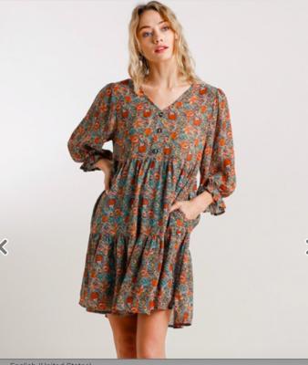Ocean Mix Floral Dress