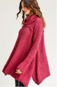 Berry Cowl Sweaters