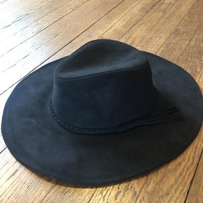 Black Suede Hat