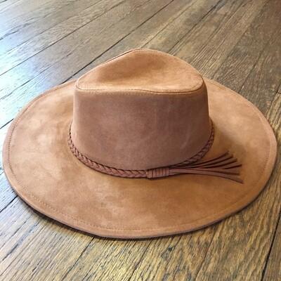 Brown Suede Hat