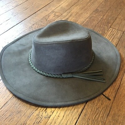 Olive Suede Hat