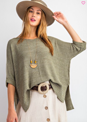 Faded Olive Sweater
