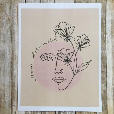 Leave Her Wild Print