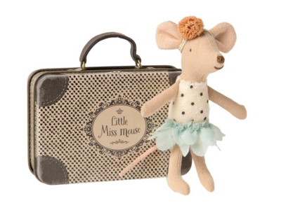 Little Miss Maileg Mouse in Suitcase