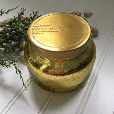 Volcano Gold Glitter Candle