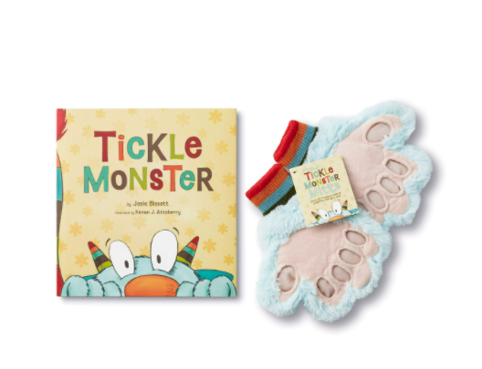 Tickle Monster Book & Plush Mitts