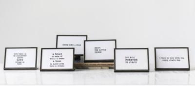 4x6 Metal Frame with Saying