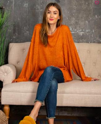 Rust Knit Sweater