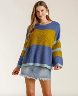 Indigo Colorblock Sweater