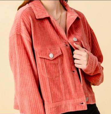 Indie Pink Corduroy Jacket